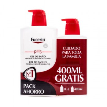 eucerin ph5 gel de bano 1l 400 ml
