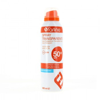 farline solar spf 50 transparente spray 200 ml